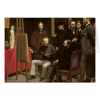 Studio chez Batignolles, 1870 Carte De Vœux