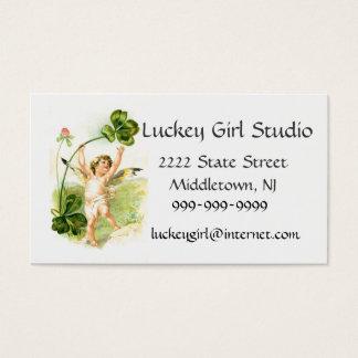 Studio de fille de Luckey Cartes De Visite