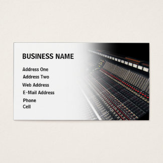 Studio d'enregistrement - carte d'industrie