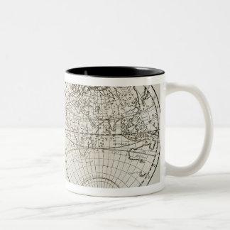Studio tiré de la carte antique 3 du monde mug bicolore