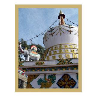Stupa au temple de Dalai Lama Carte Postale