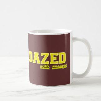 Stupéfié avec la saucisse mug
