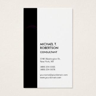 Stupéfier élégant moderne blanc de rayure noire cartes de visite