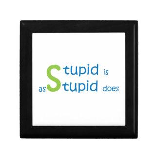 Stupide est comme stupide fait petite boîte à bijoux carrée