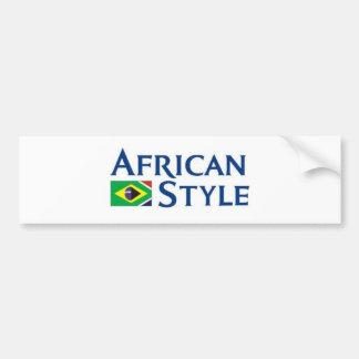Style africain fabriqué au Brésil Autocollant De Voiture