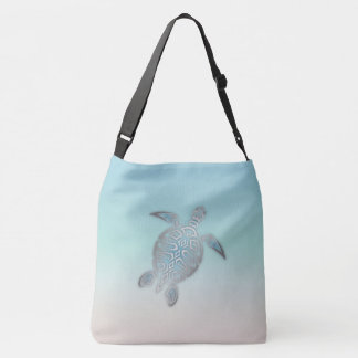 Style argenté de plage de tortue de mer sac