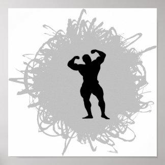 Style Bodybuilding de griffonnage Poster