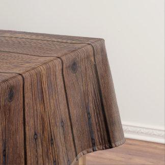 Style campagnard en bois en bois foncé rustique de nappe