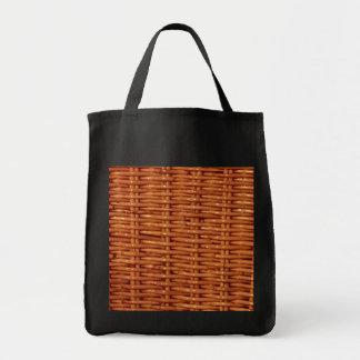 Style campagnard en osier rustique de panier de sacs