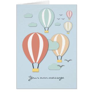 Style chaud de Papercut de ballons à air Carte De Vœux