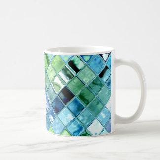 Style choisi et taille d'océan de mosaïque d'art mug blanc