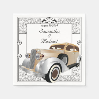 Style classique vintage de Gatsby Serviette En Papier