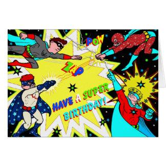 Style coloré de bande dessinée de carte