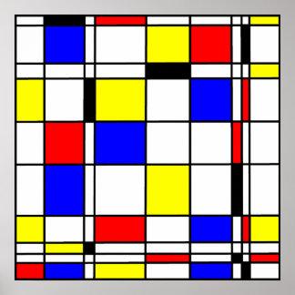 Style d art de Mondrian Posters