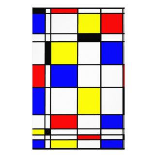 Style d'art de Mondrian Papier À Lettre Personnalisé