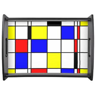 Style d'art de Mondrian Plateau De Service