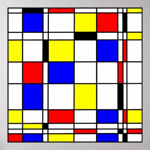 Style d'art de Mondrian Posters