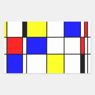Style d'art de Mondrian Sticker Rectangulaire