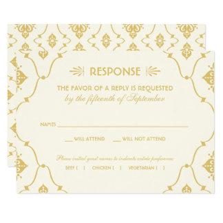 Style d'art déco de la carte | du mariage RSVP Carton D'invitation 8,89 Cm X 12,70 Cm
