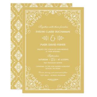 Style d'art déco des invitations | de mariage