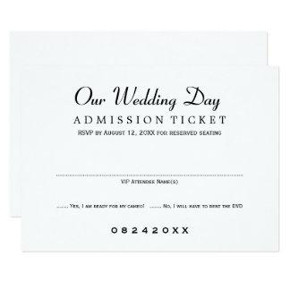 Style de billet de film de la carte | du mariage carton d'invitation 8,89 cm x 12,70 cm