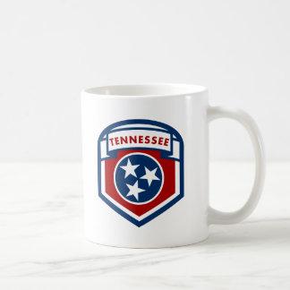 Style de bouclier de crête de drapeau d'état du mug