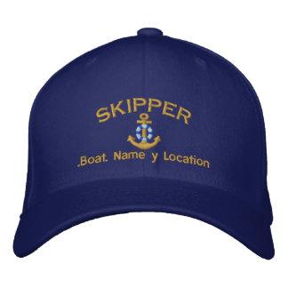 Style de capitaine votre nom de bateau votre nom casquette brodée