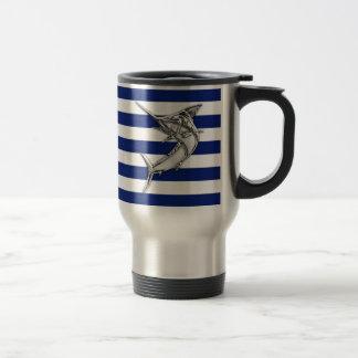Style de chrome d'espadons de Marlin sur les Mug De Voyage