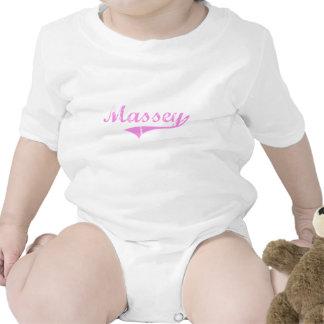 Style de classique de nom de famille de Massey T-shirts
