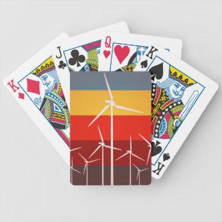 Style de cru de turbines de vent jeux de cartes