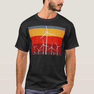 Style de cru de turbines de vent t-shirt
