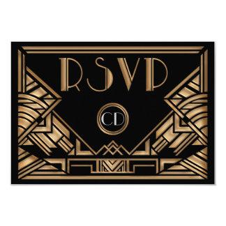 Style de Gatsby d'art déco épousant des cartes de Carton D'invitation 8,89 Cm X 12,70 Cm