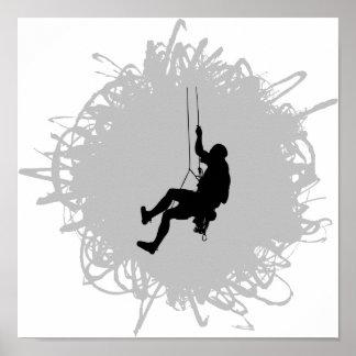 Style de griffonnage d'alpinisme poster
