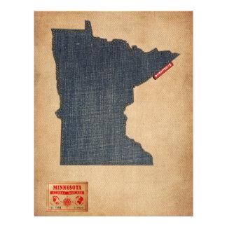 Style de jeans de denim de carte du Minnesota Prospectus Avec Motif