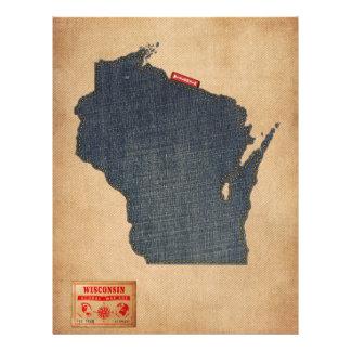Style de jeans de denim de carte du Wisconsin Prospectus