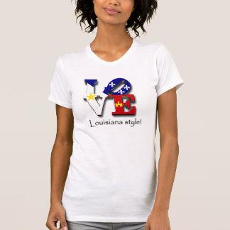 Style de la Louisiane d'amour T-shirt