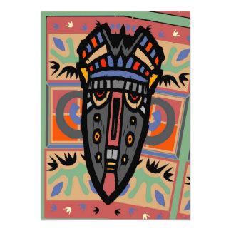 Style de Matisse de masque Carton D'invitation 12,7 Cm X 17,78 Cm