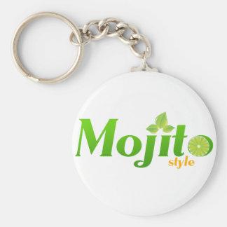 Style de Mojito Porte-clé Rond