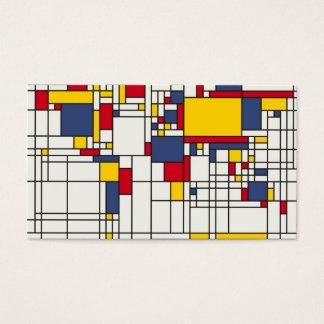 Style de Mondrian d'abrégé sur carte du monde
