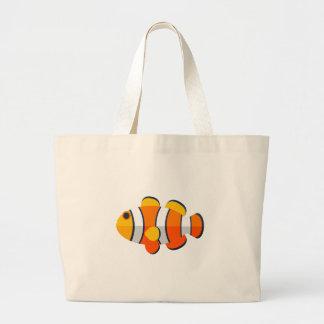 Style de primitif de poissons de clown grand tote bag