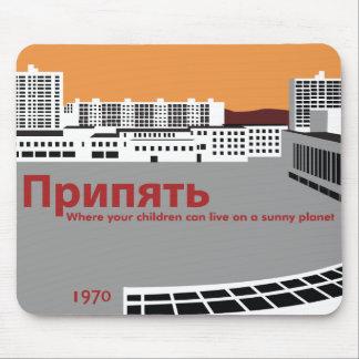 Style de propagande de Prypyat Tapis De Souris