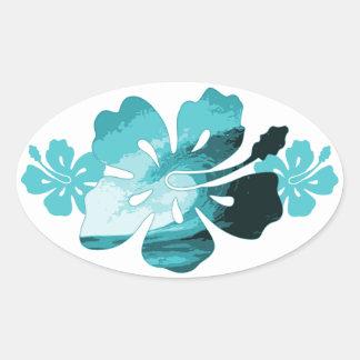 Style de surf de ketmie sticker ovale
