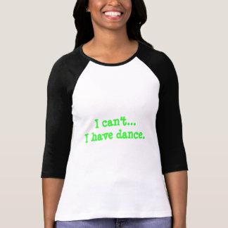 """Style de T-shirt de base-ball """"je ne peux pas…"""