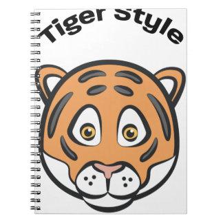 Style de tigre carnet à spirale