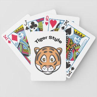 Style de tigre jeux de cartes