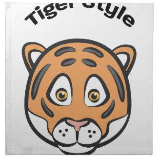 Style de tigre serviettes en tissus
