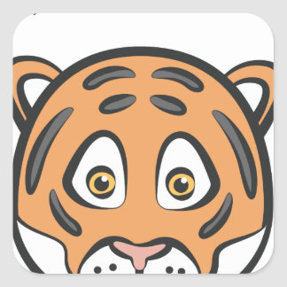 Style de tigre sticker carré