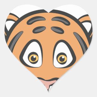 Style de tigre sticker cœur