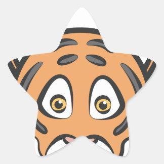 Style de tigre sticker étoile