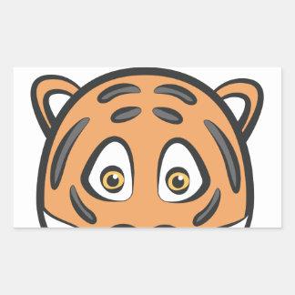 Style de tigre sticker rectangulaire